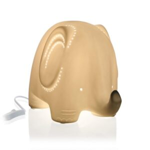 Lâmpada de Mesa Elephant Porcelana (13,5 x 15,2 x 20,5 cm)