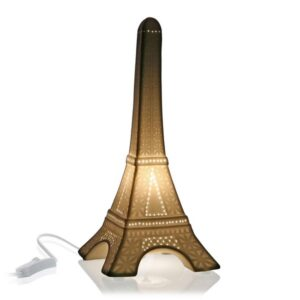 Lâmpada de Mesa Tour Eiffel Porcelana (15 x 33,3 x 15 cm)