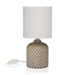 Lâmpada de Mesa Cerâmica Cinzento