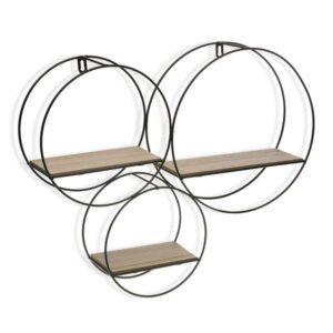 Estantes Metal (10 x 43 x 54 cm) Madeira