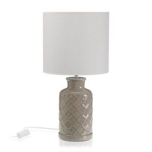 Lâmpada de Mesa Cerâmica Têxtil (25 x 50 x 25 cm)