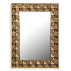 Espelho de parede Madeira (54 X 74 x 1 cm)