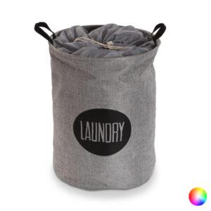 Cesto de Roupa Suja Laundry Têxtil (40 x 58 x 40 cm) Castanho