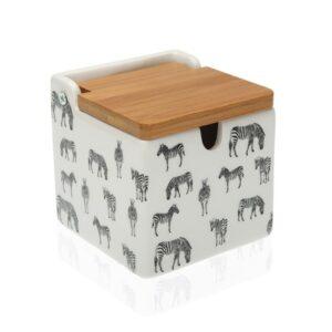 Açucareiro Cerâmica Bambu Zebra