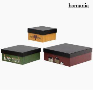 Caixa Decorativa Homania 2649 (3 pcs) Quadrado