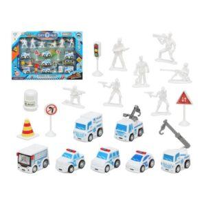 Set de Polícia Veículos e Acessórios Branco 111155