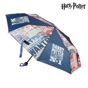 Guarda-chuva Dobrável Harry Potter Azul marinho (ø 50 cm)