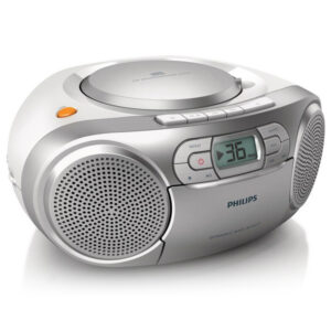 Rádio Cassete Philips AZ127/12 FM 2W Prateado