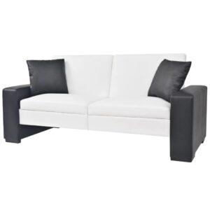Sofá-cama com braços ajustável PVC branco - PORTES GRÁTIS