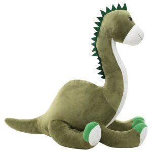 Dinossauro brontossauro de peluche verde 100 x 65 cm - PORTES GRÁTIS