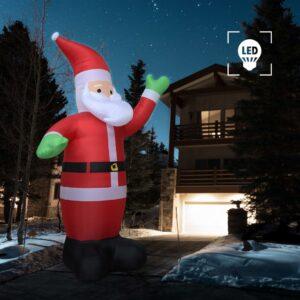 Pai Natal XXL insuflável LED Tamanho 600 cm - PORTES GRÁTIS