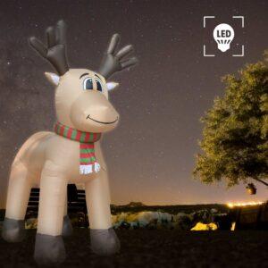 Rena de Natal XXL insuflável LED Tamanho 500 cm  - PORTES GRÁTIS