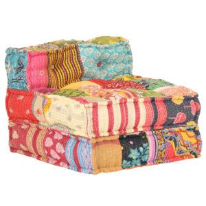 Sofá modular tecido em retalhos - PORTES GRÁTIS