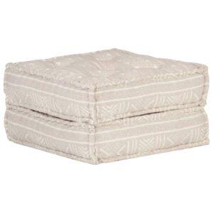 Pufe 60x70x36 cm tecido castanho-claro - PORTES GRÁTIS