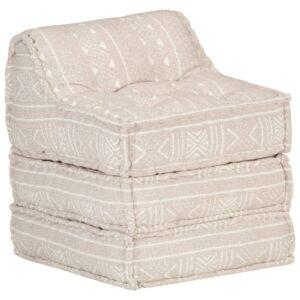 Sofá lounge modular tecido castanho-claro - PORTES GRÁTIS