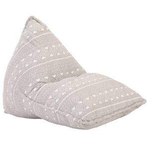 Sofá/pufe retalhos de tecido castanho-claro - PORTES GRÁTIS