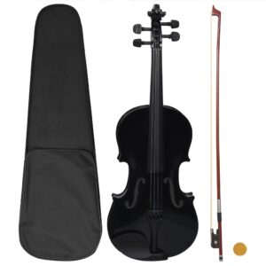 Conjunto completo violino c/ arco e apoio de queixo 4/4 preto - PORTES GRÁTIS