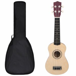 Conjunto ukulele soprano infantil c/ saco madeira clara 21