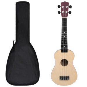 Conjunto ukulele soprano infantil c/ saco madeira clara 23