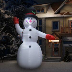 Boneco de neve insuflável XXL com LED Altura 450 cm - PORTES GRÁTIS