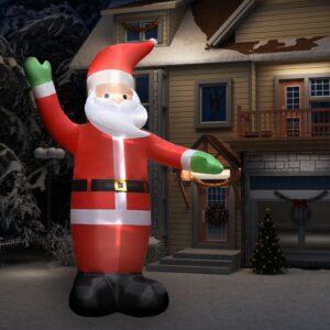 Pai Natal insuflável XXL com luzes LED Altura: 450 cm - PORTES GRÁTIS