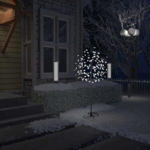 Árvore de Natal 120 LED flor cerejeira luz branco frio 150 cm - PORTES GRÁTIS