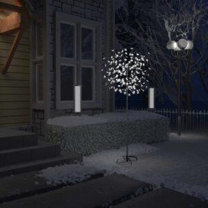 Árvore de Natal 200 LED flor cerejeira luz branco frio 180 cm - PORTES GRÁTIS