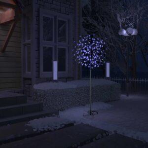 Árvore de Natal 200 LED flor cerejeira luz branco azulado 180cm - PORTES GRÁTIS