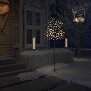 Árvore de Natal 220 LED flor cerejeira luz branco quente 220 cm - PORTES GRÁTIS