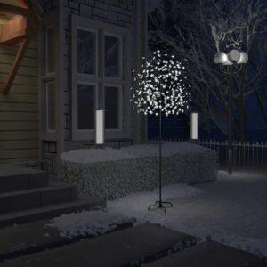 Árvore de Natal 220 LED flor cerejeira luz branco frio 220 cm - PORTES GRÁTIS