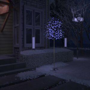 Árvore de Natal 220 LED flor cerejeira luz azul 220 cm - PORTES GRÁTIS