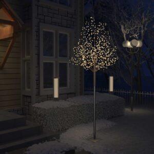 Árvore de Natal 600 LED flor cerejeira luz branco quente 300 cm - PORTES GRÁTIS