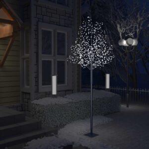 Árvore de Natal 600 LED flor cerejeira luz branco frio 300 cm - PORTES GRÁTIS