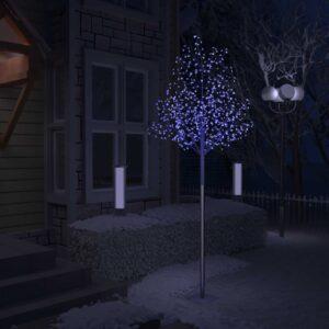 Árvore de Natal 600 LED flor cerejeira luz azul 300 cm - PORTES GRÁTIS