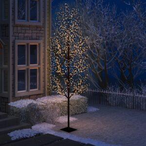 Árvore de Natal 1200 LED flor cerejeira luz branco quente 400cm - PORTES GRÁTIS