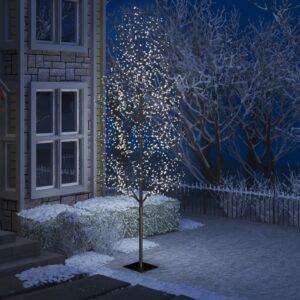 Árvore de Natal 1200 LED flor cerejeira luz branco frio 400cm - PORTES GRÁTIS