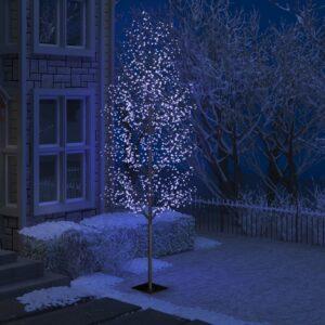 Árvore de Natal 1200 luzes LED flor cerejeira luz azul 400 cm - PORTES GRÁTIS