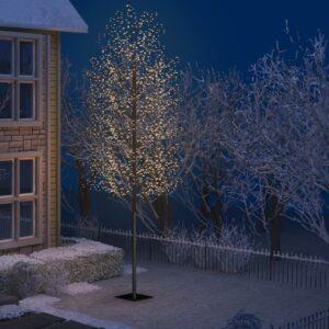 Árvore de Natal 2000 LED flor cerejeira luz branco quente 500cm - PORTES GRÁTIS