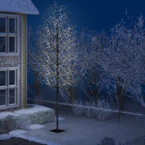 Árvore de Natal 2000 LED flor cerejeira luz branco frio 500 cm - PORTES GRÁTIS