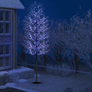 Árvore de Natal 2000 luzes LED flor cerejeira luz azul 500 cm - PORTES GRÁTIS