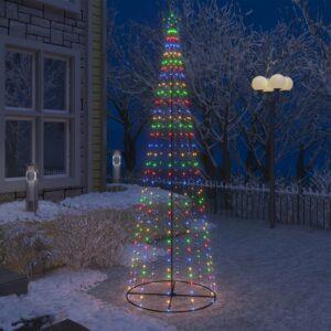 Árvore de Natal em cone 330 luzes LED multicor 100x300cm - PORTES GRÁTIS
