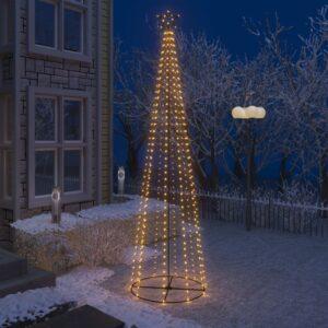 Árvore de Natal em cone 400 luzes LED branco quente 100x360cm - PORTES GRÁTIS