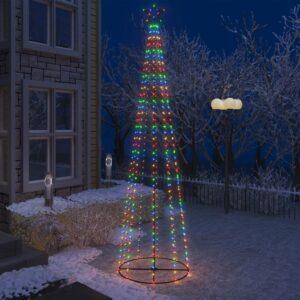 Árvore de Natal em cone 400 luzes LED multicor 100x360cm - PORTES GRÁTIS