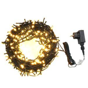Cordão com 2000 luzes LED int./ext. IP44 200 m branco quente - PORTES GRÁTIS