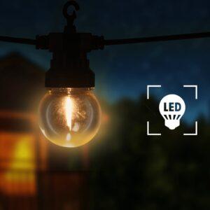Cordão lâmpadas exterior 60 pcs decoração de natal redondo 59 m - PORTES GRÁTIS