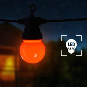 Cordão lâmpadas exterior 20 pcs decoração de natal redondo 23 m - PORTES GRÁTIS