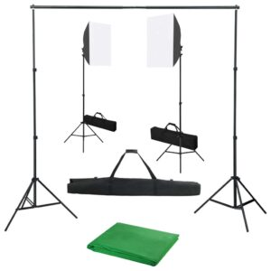 Kit de estúdio fotográfico com softbox de iluminação e fundo - PORTES GRÁTIS
