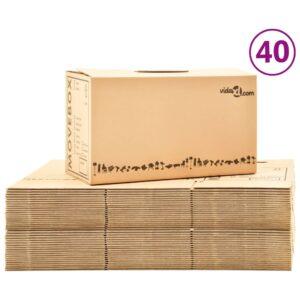 Caixas para mudanças XXL 40 pcs 60x33x34 cm - PORTES GRÁTIS