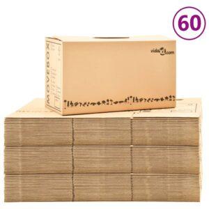 Caixas para mudanças XXL 60 pcs 60x33x34 cm - PORTES GRÁTIS