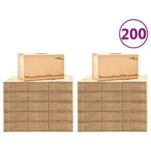 Caixas para mudanças XXL 200 pcs 60x33x34 cm - PORTES GRÁTIS